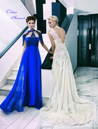 Calliope Anemouli Blue and white dresses